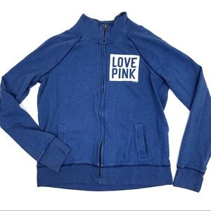 PINK VS full zip sweatshirt blue - size Medium